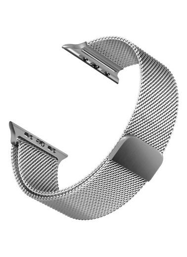 Apple Apple Watch 42-44mm Milano Hasır Çelik Kayış Gri